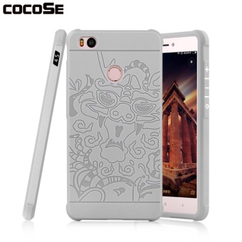 COCOSE Phone Case Dragon Pattern Soft Silicone TPU Back Cover Shockproof Phone Shell For Xiaomi Mi